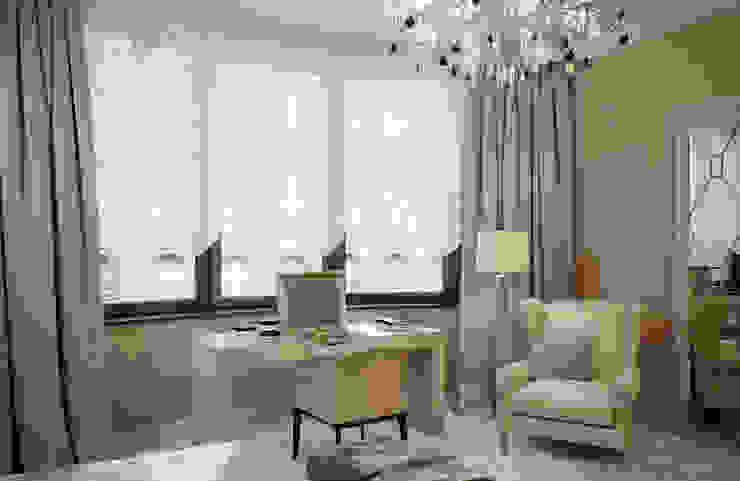 Квартира в ЖК Донское подворье Спальня в эклектичном стиле от MARION STUDIO Эклектичный