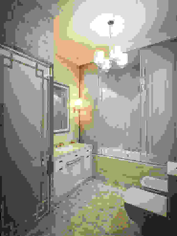 Квартира в ЖК Донское подворье Ванная комната в эклектичном стиле от MARION STUDIO Эклектичный