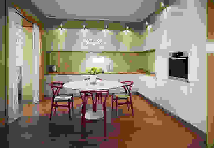 Квартира в ЖК Dominion Кухни в эклектичном стиле от MARION STUDIO Эклектичный