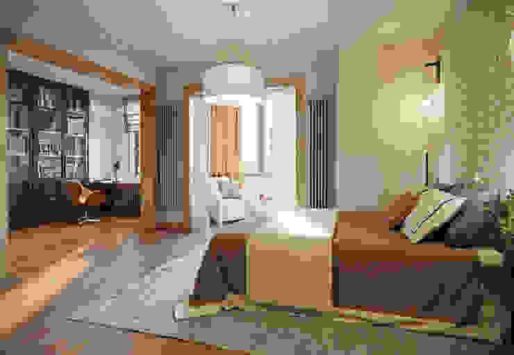 Квартира в ЖК Dominion Спальня в эклектичном стиле от MARION STUDIO Эклектичный