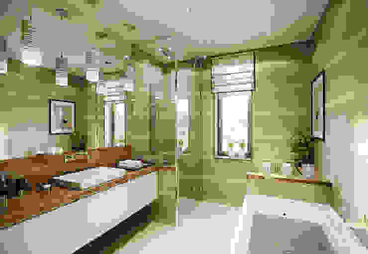 Квартира в ЖК Dominion Ванная комната в эклектичном стиле от MARION STUDIO Эклектичный
