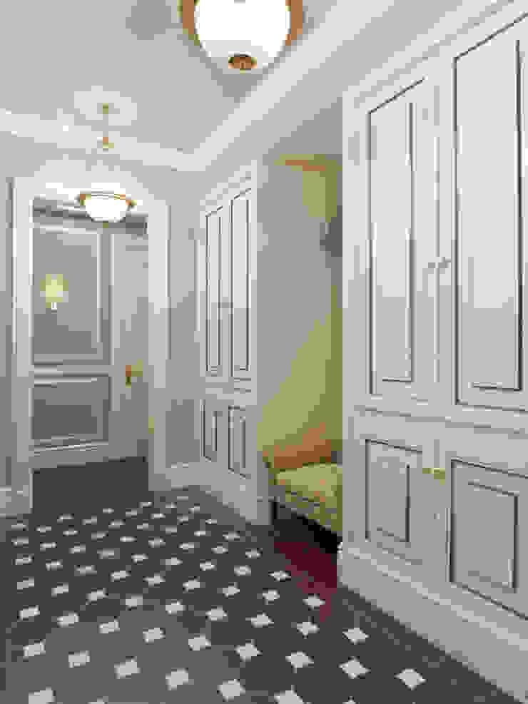 Квартира в ЖК Измайловский Коридор, прихожая и лестница в эклектичном стиле от MARION STUDIO Эклектичный