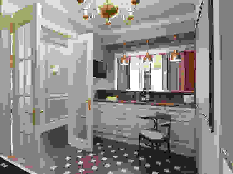 Квартира в ЖК Измайловский Кухни в эклектичном стиле от MARION STUDIO Эклектичный