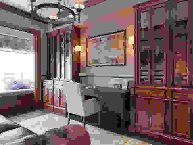 Квартира в ЖК Измайловский Рабочий кабинет в эклектичном стиле от MARION STUDIO Эклектичный