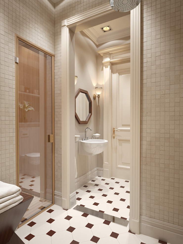 Квартира в ЖК Измайловский Ванная комната в эклектичном стиле от MARION STUDIO Эклектичный