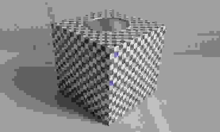 Teelichtwürfel Karos blau weiß von Susen´s Allerlei Ausgefallen Holz Holznachbildung