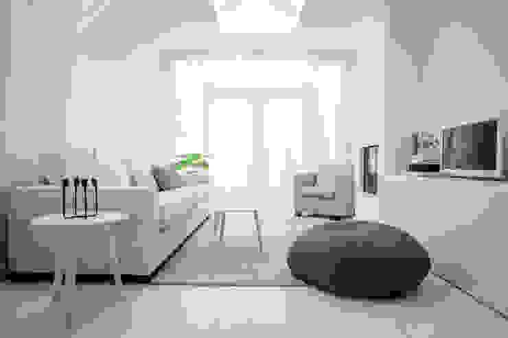 Woonhuis | Delft Design Studio Nu Scandinavische woonkamers Wit