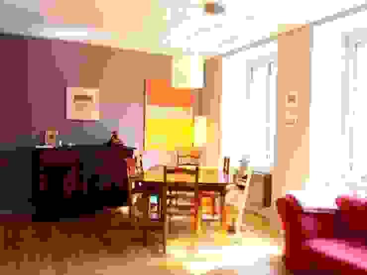Réhabilitation d'un appartement à Strasbourg Salle à manger moderne par Ae-design Moderne