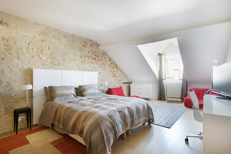 Eclectische slaapkamers van A+B Kasha Eclectisch