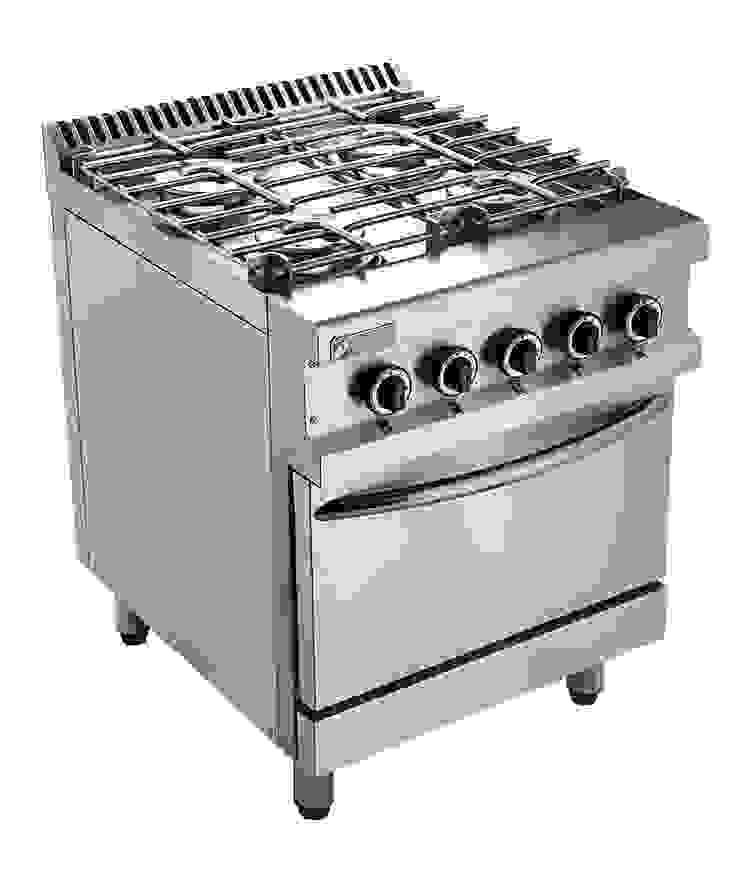 Cocina Serie 700 Hi Tech:  de estilo industrial por Ingeniería Gastronómica,Industrial