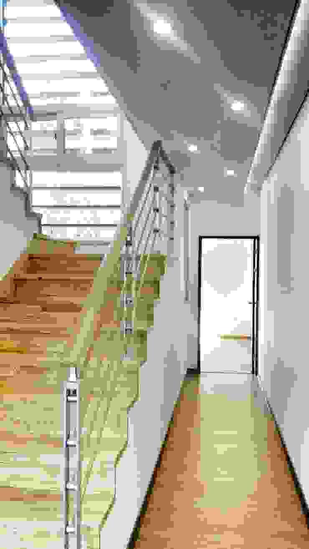 GN건축사사무소 Couloir, entrée, escaliers minimalistes