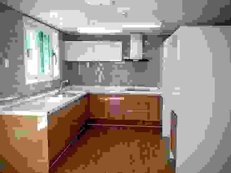 GN건축사사무소 現代廚房設計點子、靈感&圖片