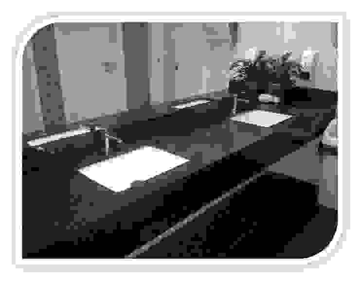 Balcões para wc em Granito Casas de banho modernas por BELGRAN, LDA Moderno