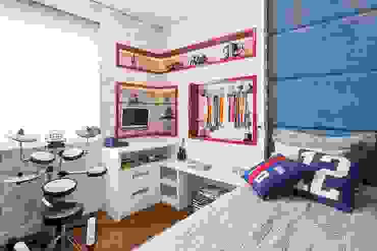 Dormitório Filho por FV Moderno Pele Cinza