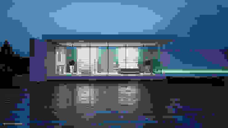 Jonathan Sabbadini Casas de estilo minimalista Azul