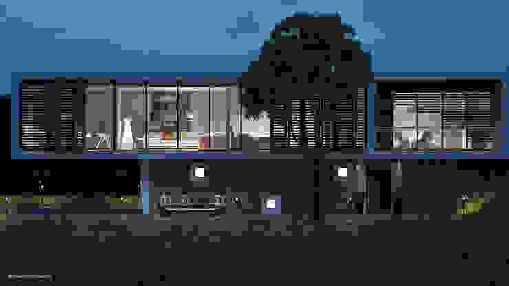 La casa e l'albero Jonathan Sabbadini Case moderne Blu