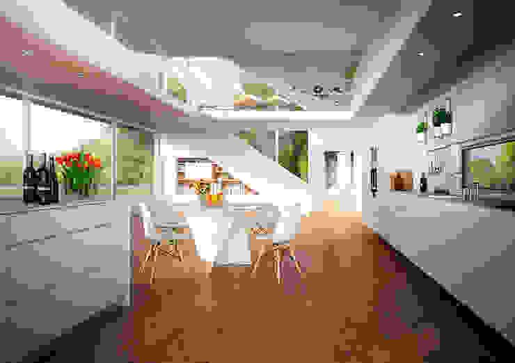 Jonathan Sabbadini Modern style kitchen Wood White