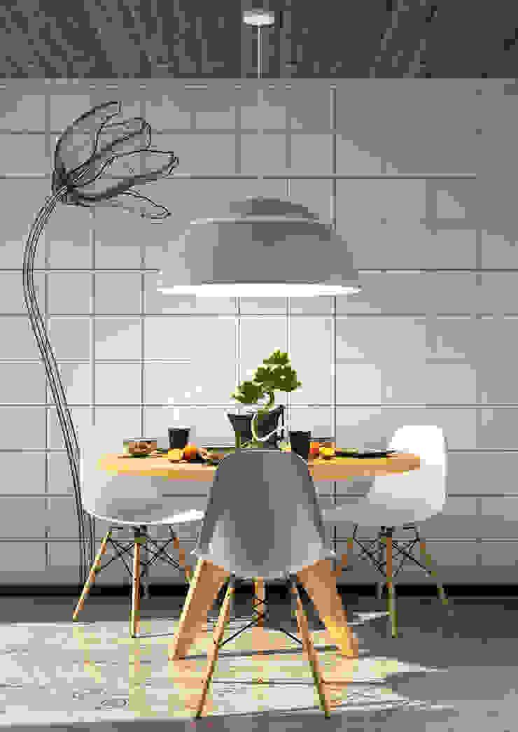 Un tè per tre Jonathan Sabbadini CucinaTavoli & Sedie Bianco