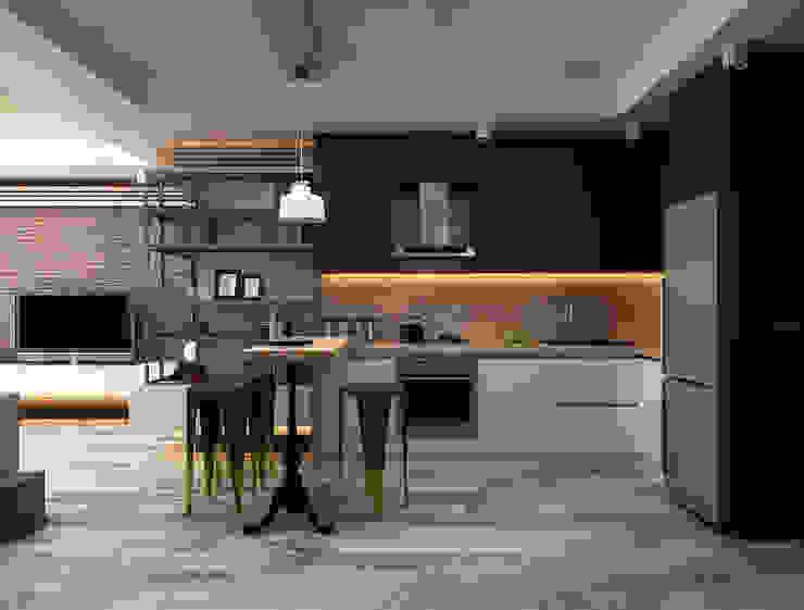 Ceren Torun Yiğit  – Stüdyo Daire Tasarımı:  tarz Mutfak,