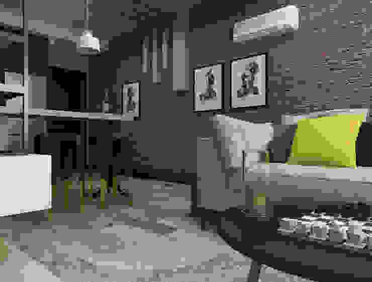 Stüdyo Daire Tasarımı Minimalist Oturma Odası Ceren Torun Yiğit Minimalist
