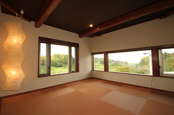 霞ヶ浦の家 ラスティックスタイルの 寝室 の 大出設計工房 OHDE ARCHITECT STUDIO ラスティック