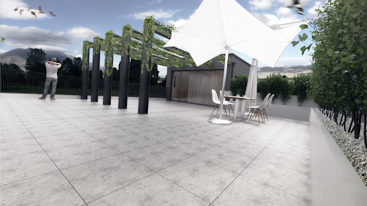 Casa PD Varandas, marquises e terraços modernos por Rúben Ferreira   Arquitecto Moderno