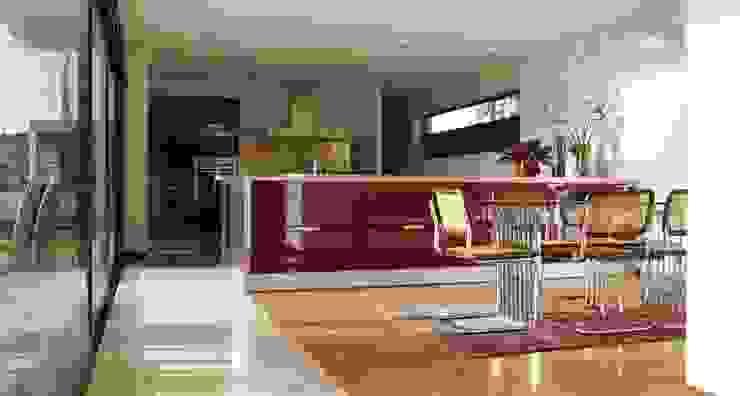 VIVIENDA UNIFAMILIAR EN LA PLAYA DE ESPIÑEIRO Comedores de estilo moderno de EPB42 Arquitectura y Planeamiento, S.L Moderno