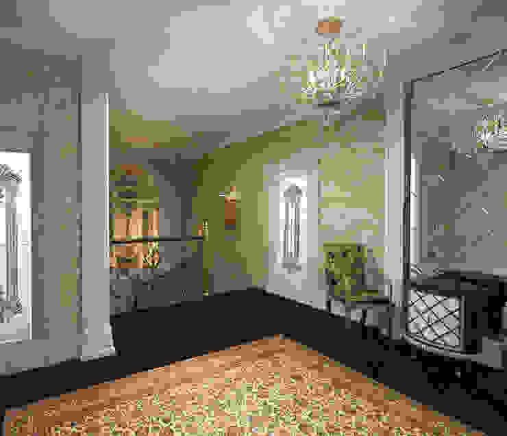 Современный классицизм Коридор, прихожая и лестница в эклектичном стиле от Студия Маликова Эклектичный