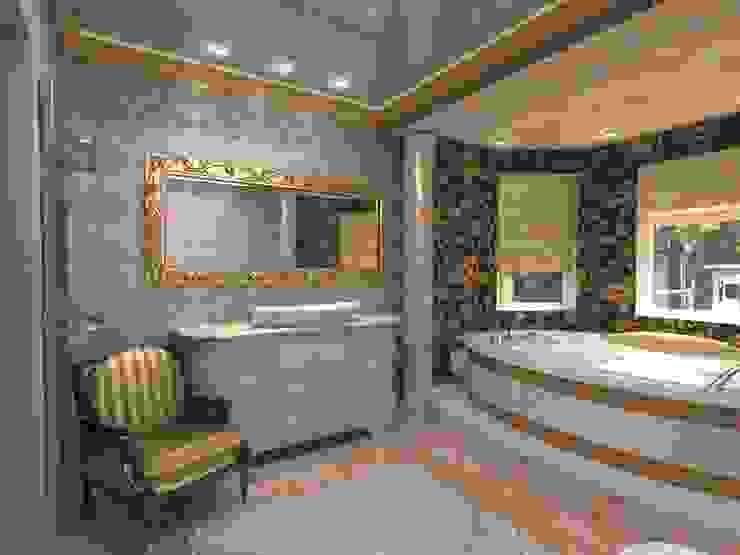 Современный классицизм Ванная комната в эклектичном стиле от Студия Маликова Эклектичный Керамика