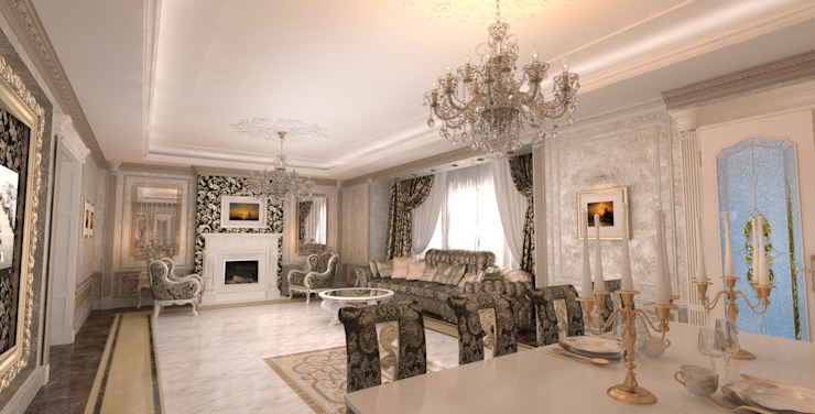 Classic style dressing room by Студия Маликова Classic