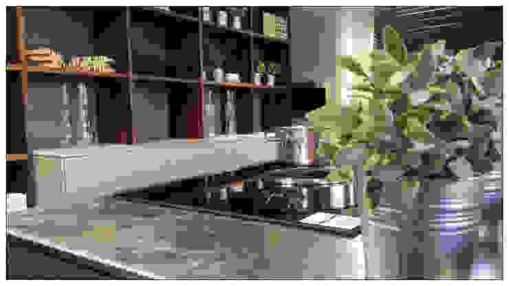 TOP: Inox Barazza con lavorazione vintage Cucina in stile industriale di Formarredo Due design 1967 Industrial