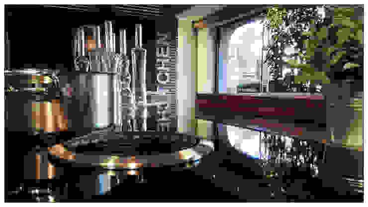 Piano Cottura Induzione con Cappa integrata: Bora mod. Basic Formarredo Due design 1967 Cucina in stile industriale Nero