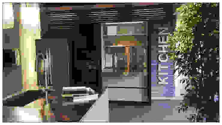Cucina in Ecomalta - Formarredo Due & Key Cucine Formarredo Due design 1967 Cucina in stile industriale Marrone