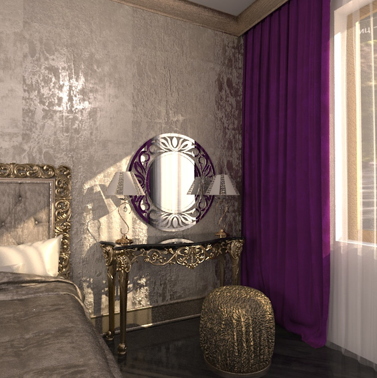 Eclectic style bedroom by Студия Маликова Eclectic