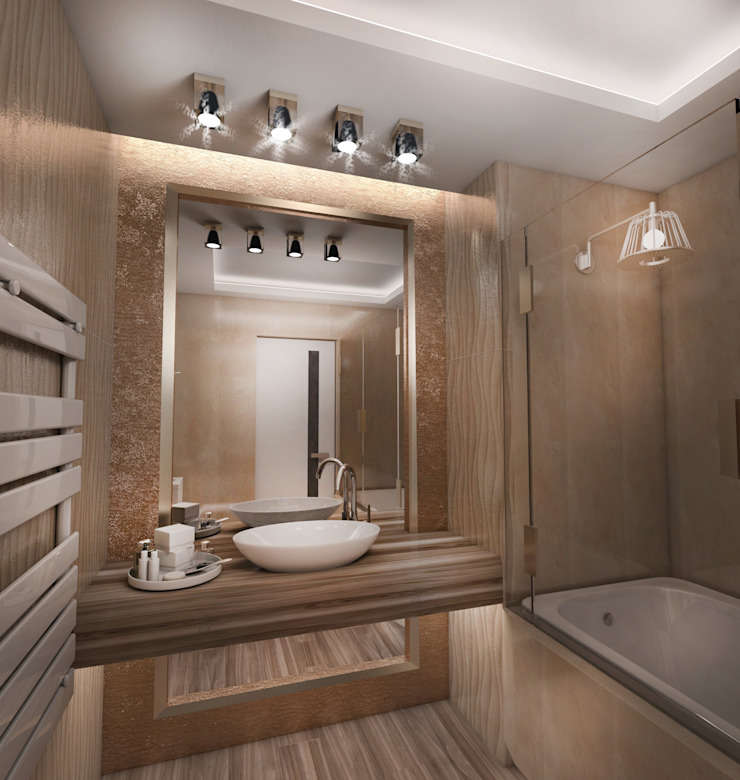 Eclectic style bathroom by Студия Маликова Eclectic
