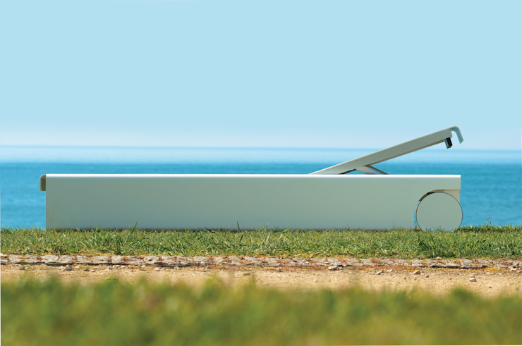 Lounger por Sachi - Premium Outdoor Furniture Moderno Alumínio/Zinco