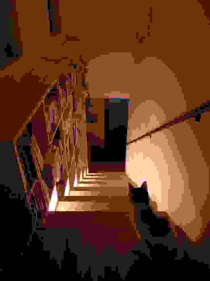 山の根の住宅 モダンスタイルの 玄関&廊下&階段 の アーキグラフデザイン モダン