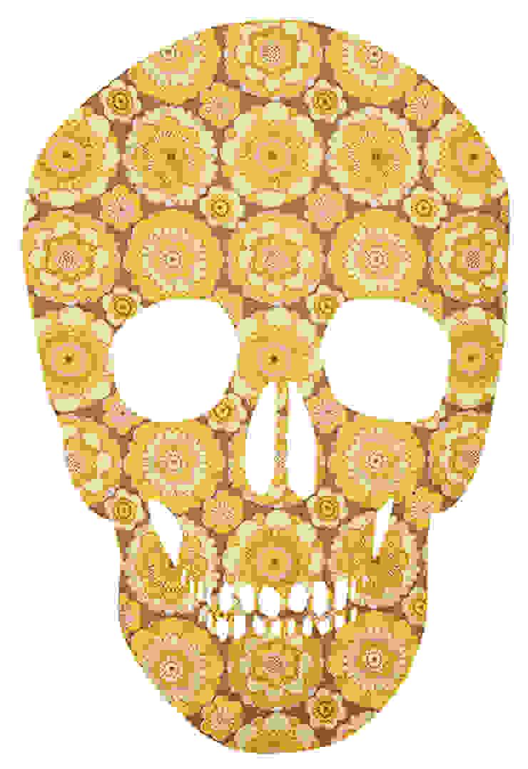 Yellow Skull van MOoink Eclectisch Papier