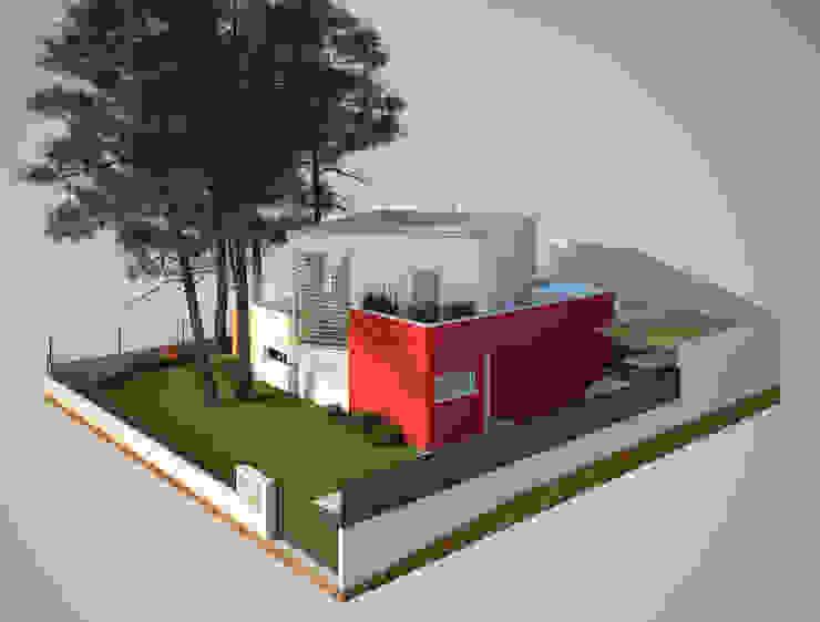 Alçado Lateral Direito Casas modernas por Miguel Ferreira Arquitectos Moderno