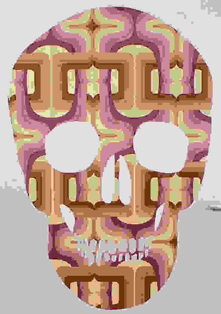Pink Skull van MOoink Eclectisch Papier