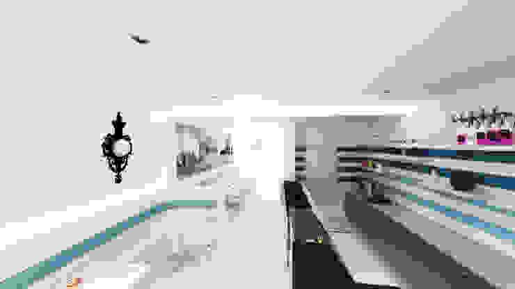 LA ROMANA | Gelateria - Creperie Estudios y despachos de estilo minimalista de Rúben Ferreira | Arquitecto Minimalista