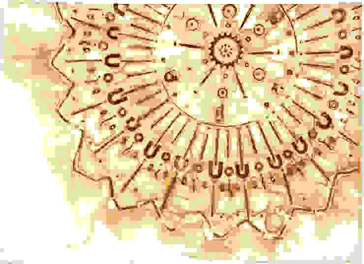 Cosmic Explosion II: modern  door MOoink, Modern Papier
