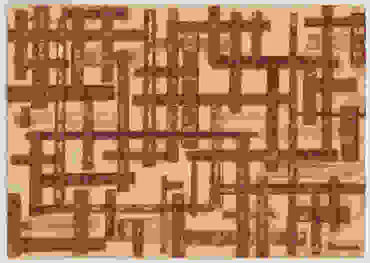 Untitled: modern  door MOoink, Modern Papier