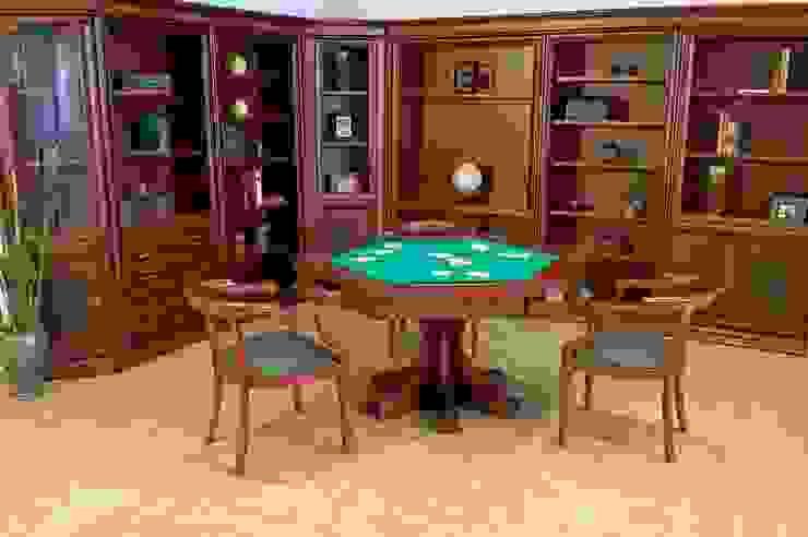 Juego de mesa Porto con libreros Córdoba de Muebles Maple Clásico