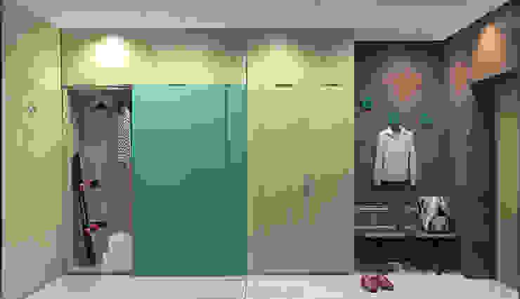 Красочный минимализм Коридор, прихожая и лестница в стиле минимализм от BIARTI - создаем минималистский дизайн интерьеров Минимализм