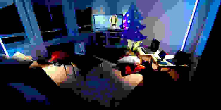 Le loft du père Nöel Salon moderne par REGH'S Moderne