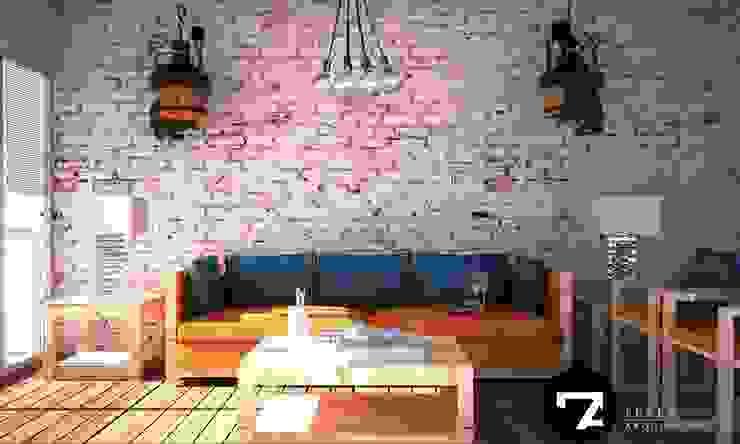 Proyectos Interiorismo Salones modernos de Seven Arquitectos Moderno