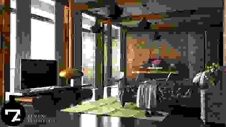 Спальня в стиле модерн от Seven Arquitectos Модерн