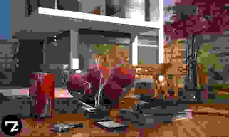 Proyectos Interiorismo Jardines modernos de Seven Arquitectos Moderno