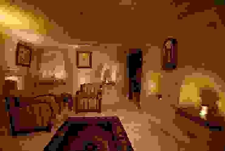 Emine Hanım evi Öncesi ve Sonrası Rustik Oturma Odası Kayakapi Premium Caves - Cappadocia Rustik